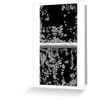 Snowflake Stone Window Greeting Card