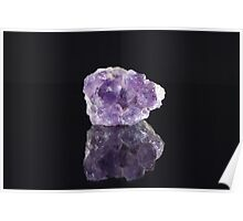 Natural Raw Purple Amethyst Poster