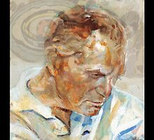 Jack Kirby (Painting for Trading Card) by Graham Hill