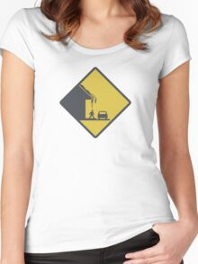 Falling Snow Women's Fitted Scoop T-Shirt