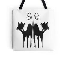 Black retro cat Tote Bag