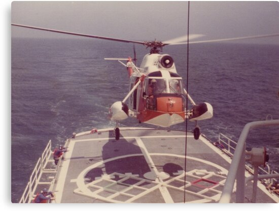 Atlantic Ocean, Helicopter Operations, United States Coast Guard Cutter VIGOROUS, on Station (1978-1979). by Richard Bradley Bonds