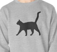 Black Cat Silhouette Pullover