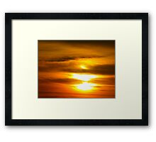 Accordion sun Framed Print