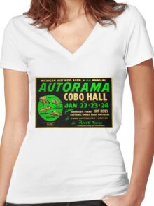 Autorama Poster Cobo Hall 1966 Women's Fitted V-Neck T-Shirt