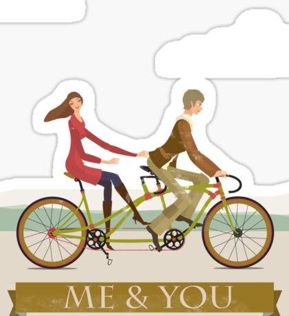 Me & You Bike Sticker
