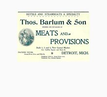 Barlum & Son Provisions Supplier Ad 1880 Detroit Unisex T-Shirt