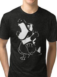 Totodile - White Tri-blend T-Shirt