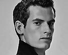 Andy Murray Digital Art Portrait by David Alexander Elder