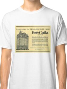 Vintage Detroit Ad for the Book Cadillac Hotel in 1926 Classic T-Shirt