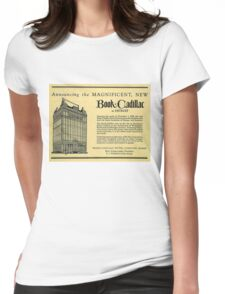 Vintage Detroit Ad for the Book Cadillac Hotel in 1926 Womens Fitted T-Shirt