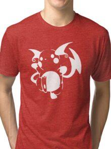 Raichu White Tri-blend T-Shirt