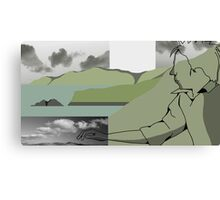 Is it a Drawing?-Coast Canvas Print