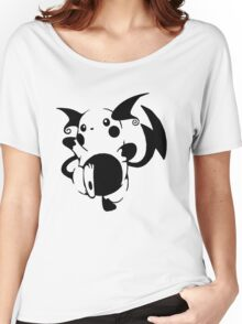 Raichu Black Women's Relaxed Fit T-Shirt