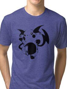 Raichu Black Tri-blend T-Shirt