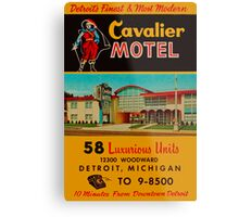 Vintage Cavalier Motel Detroit Ad Metal Print