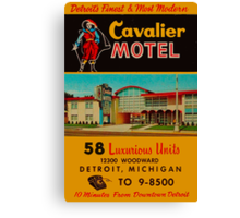 Vintage Cavalier Motel Detroit Ad Canvas Print