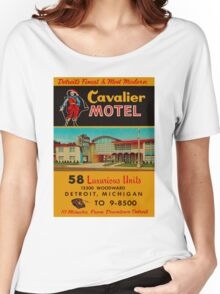 Vintage Cavalier Motel Detroit Ad Women's Relaxed Fit T-Shirt