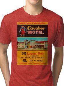 Vintage Cavalier Motel Detroit Ad Tri-blend T-Shirt