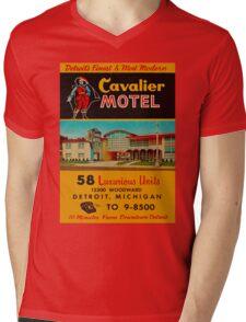 Vintage Cavalier Motel Detroit Ad Mens V-Neck T-Shirt