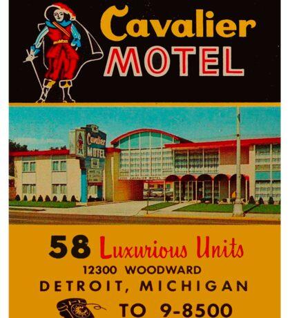 Vintage Cavalier Motel Detroit Ad Sticker