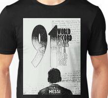 Lionel Messi Goal Record 2012 Unisex T-Shirt