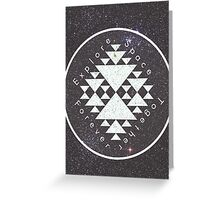 Explore. Space. Together. Forever. Greeting Card