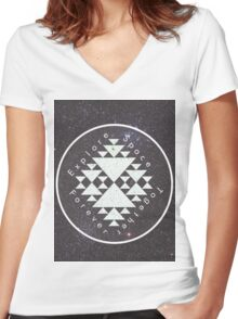 Explore. Space. Together. Forever. Women's Fitted V-Neck T-Shirt