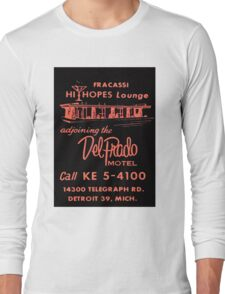 Vintage Detroit Del Prado Motel Ad Long Sleeve T-Shirt