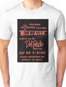 Vintage Detroit Del Prado Motel Ad Unisex T-Shirt