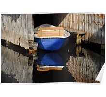 Boating Reflections Poster