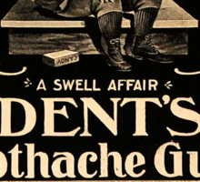 Vintage Detroit Ad for Dent's Gum ca. 1890 Sticker