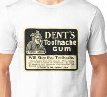 Vintage Detroit Ad for Dent's Toothache Gum Unisex T-Shirt