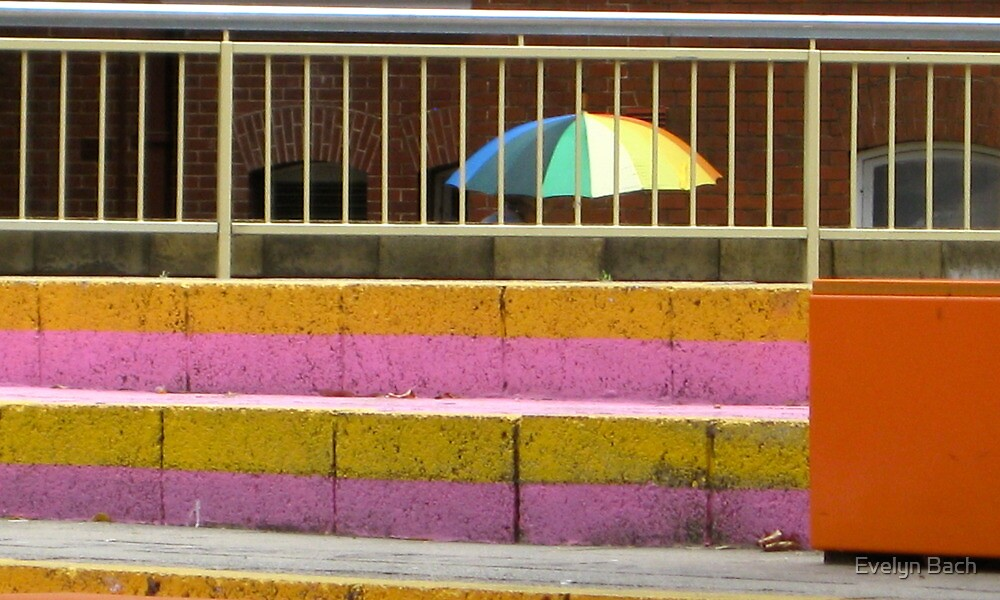 passing rainbow by Evelyn Bach