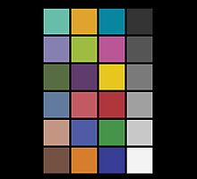 Photography color checker iPad case by PixelRider