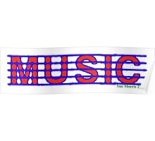Music Red white & Blue Poster