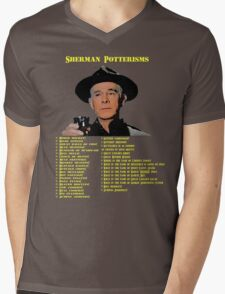 Sherman Potterisms Mens V-Neck T-Shirt