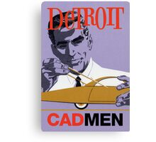 Vintage Detroit Designer CAD Men Canvas Print