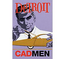 Vintage Detroit Designer CAD Men Photographic Print