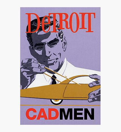Vintage Detroit Designer CAD Men Photographic Print
