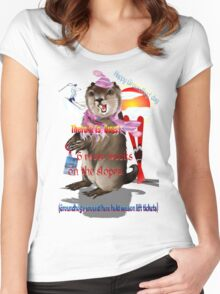Groundhog Day-6 more weeks Women's Fitted Scoop T-Shirt
