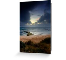 Dramatic Light At Koonya Beach Greeting Card