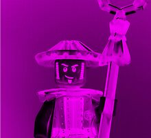 Ching Dynasty Chinese Warrior Custom LEGO® Minifigure with Trans Armour by Chillee