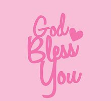 God Bless You! in pink  by jazzydevil