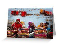 Saris in Jodhpur Greeting Card