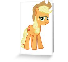 Applejack is not amused no text Greeting Card