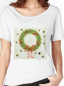 Christmas Wreath Women's Relaxed Fit T-Shirt