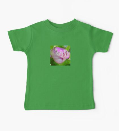 Pink Polygala Myrtifolia in Macro with Green Background  Baby Tee