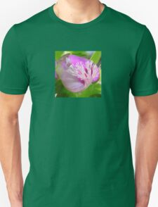 Pink Polygala Myrtifolia in Macro with Green Background  T-Shirt