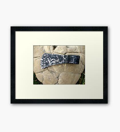 Malleare Carbon Steel Axe Framed Print